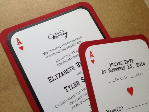 Las Vegas Themed Wedding Invitations: 1000+ Images About Sports & Games Wedding Stationery On