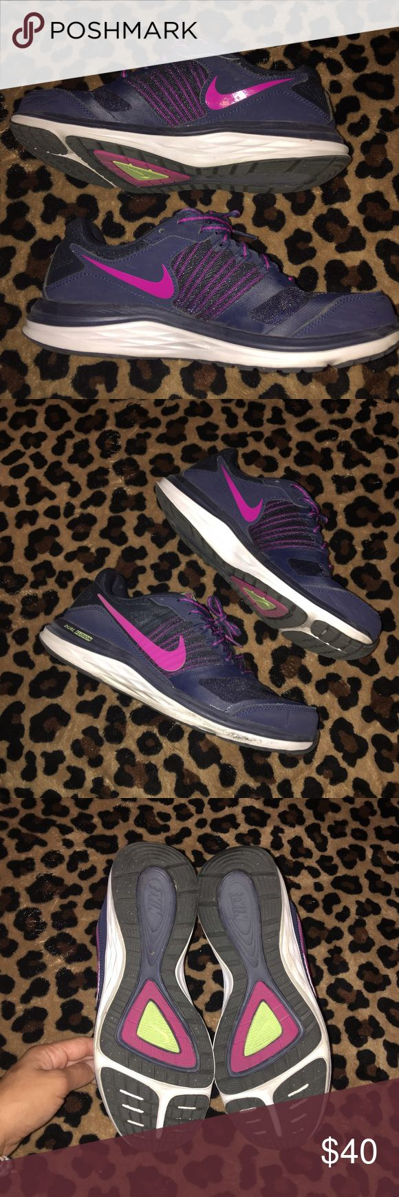 """Nike """"Dual Fusion X"""" shoes These have only been worn a couple of times!! In amazing condition! Super cute & stylish! Perfect for working out or just every day use! They are super comfy & simply gorgeous! 💖💕 Nike Shoes Sneakers"""