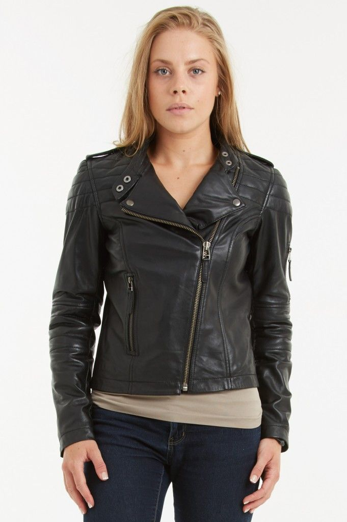 Black leather biker jacket size 18 – New Fashion Photo Blog