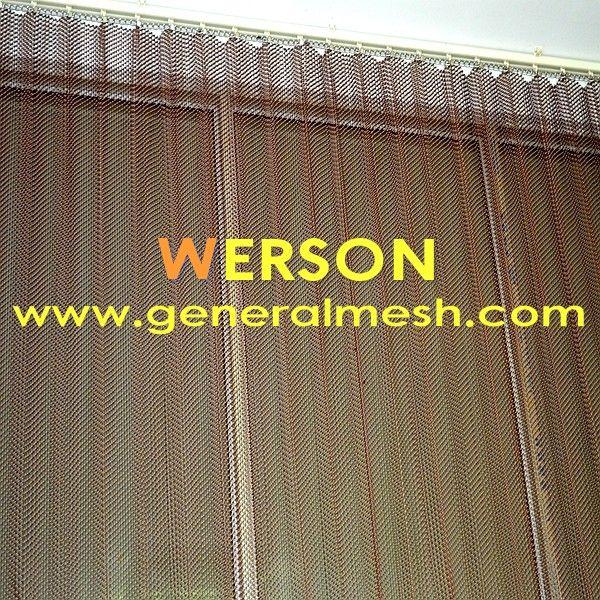 Metal Drapery Woven Wire Drapery Mesh Wire Mesh Interior Cladding