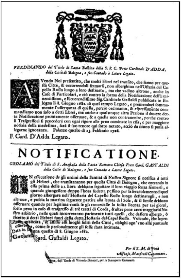 Notificatione, 1706.