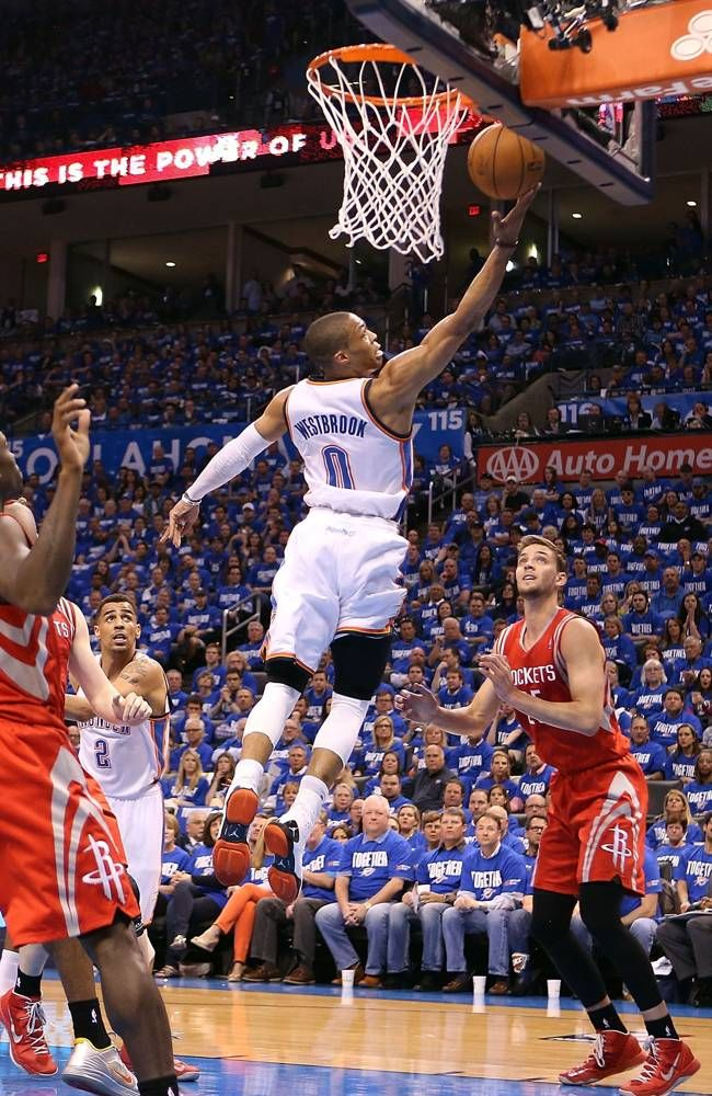 Russell Westbrook #0 of the Oklahoma City Thunder - 2013 NBA Playoffs - Our Prayers are w/you for a VERY QUICK (like you) recovery!!!