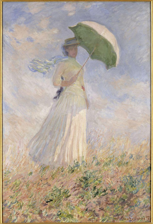 Essai de figure en plein-air: Femme à l'ombrelle tournée vers la droite, 1886 olio su tela, 130,5x89,3 cm Paris, Musée d'Orsay