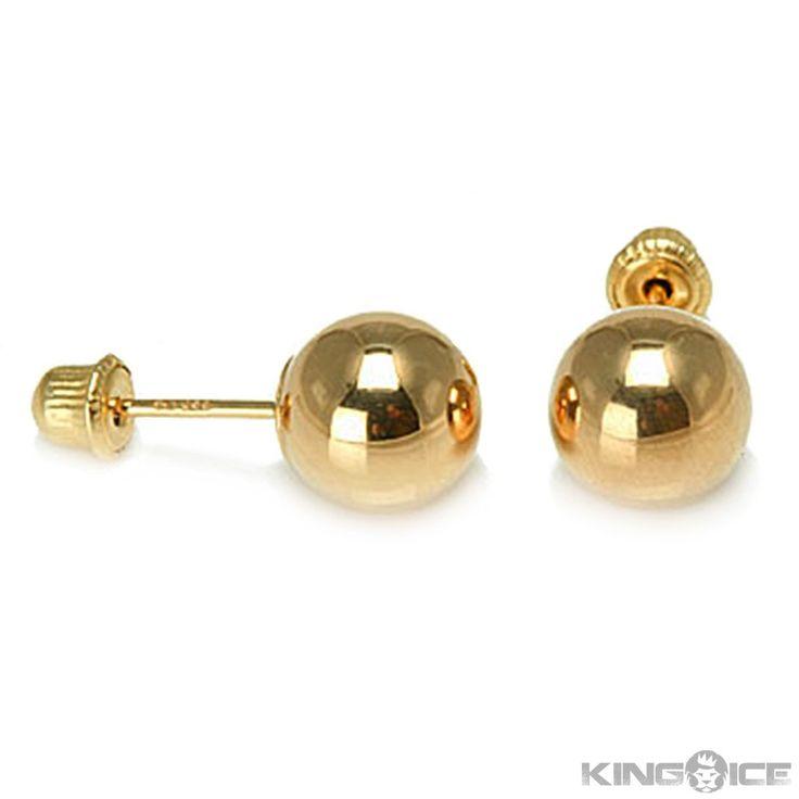 Gold Ball Stud Earrings