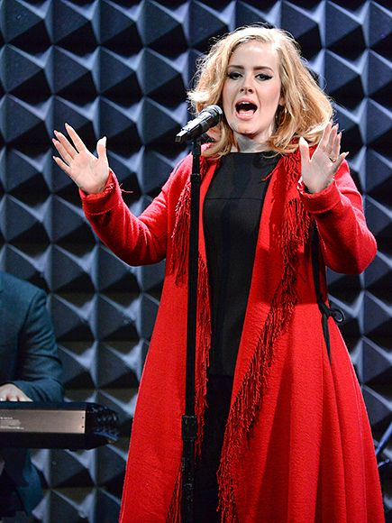Star Tracks: Monday, November 23, 2015 | LADY IN RED | Hello! Adele belts it out on Friday during an intimate 25 album release event at Joe's Pub in N.Y.C. – the same venue at which she made her New York City debut in 2008.
