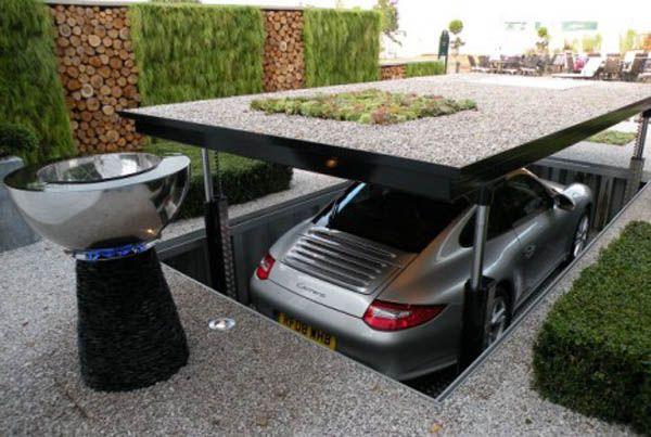 hidden garage.....love it