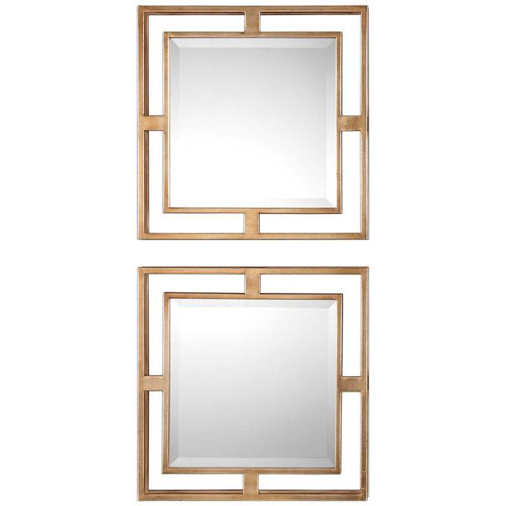Uttermost Allick Gold Square Mirror Set of 2