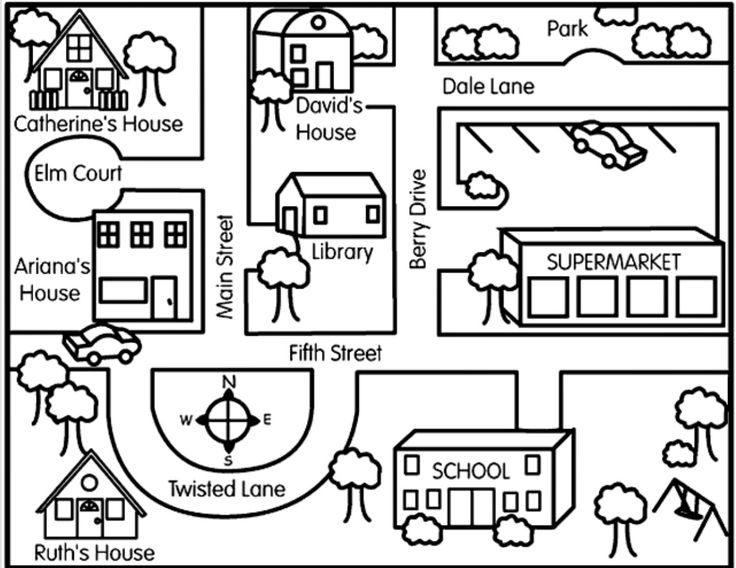 This is a cute free directions lesson from Crayola.  Even if the directions are too complex, you could use the map and modify the directions to the needs of your learner.