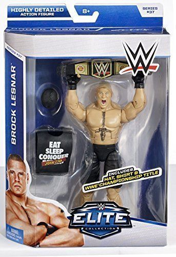 WWE Elite Series 37 Brock Lesnar with Championship Title hat shirt Wave #37 in Toys & Hobbies, Action Figures, Sports | eBay