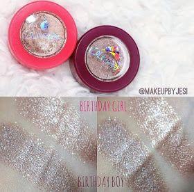 Lip Drama: ColourPop Limited Edition Anniversary Eyeshadow Swatches - Birthday Girl (1st anniversary) & Birthday Boy (2nd anniversary)