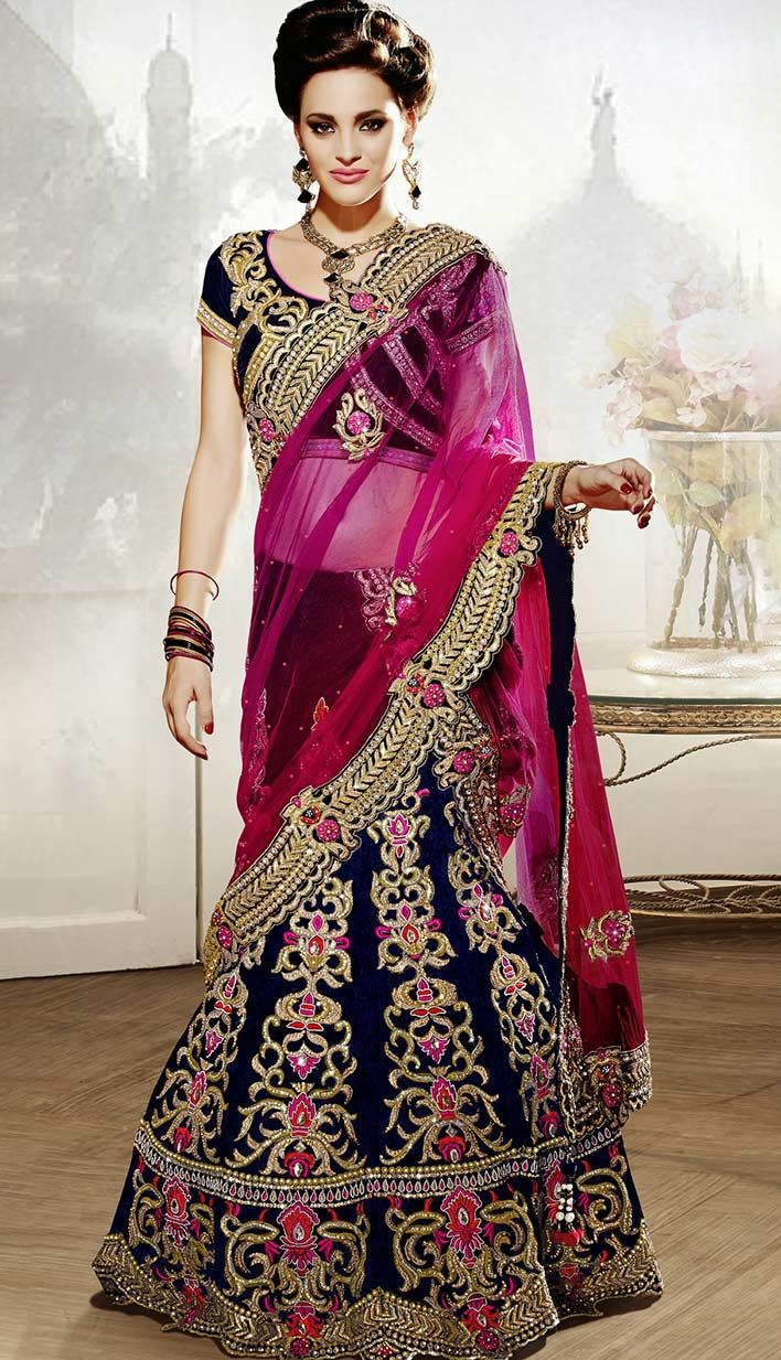 Get Latest Fashionable Festival Pink Nett Georgette #Lehenga Choli Online  #Price INR- 24956 Link- http://alturl.com/dg6ms