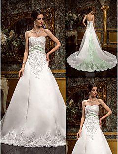 Lanting Bride® A-Linie Extraklein / Übergrößen Hochzeitskleid - Klassisch & Zeitlos / Glamurös & Dramatisch Vintage InspirationenKirchen