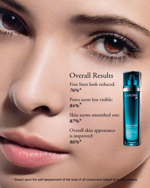 Lancome Visionnaire: wrinkle corrector, minimizes pores, enhances evenness