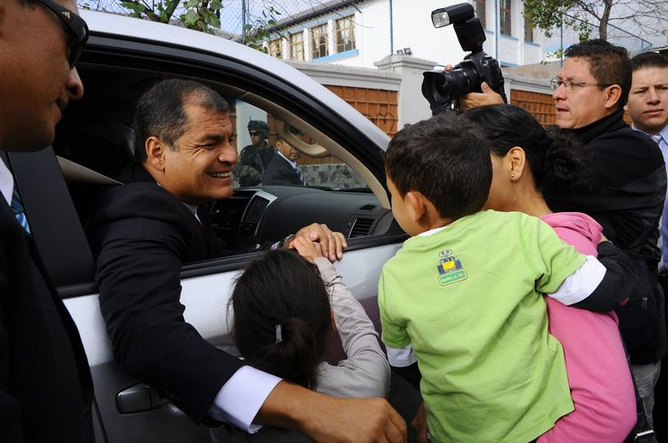 article on  Ecuador's popular, powerful president Rafael Correa is a study in contradictions