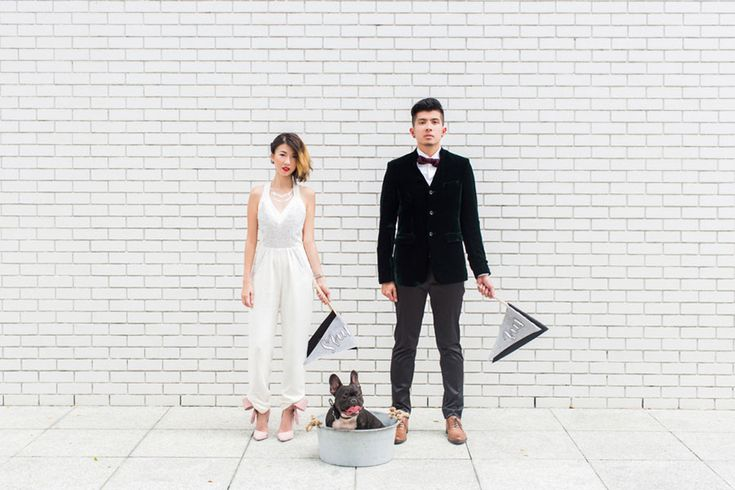 The coolest couple on the block needs no introduction. They captured our hearts with their search for the elusive unicorn, and wowed us with their derby chic wedding; it is little wonder, then, that the talented folks of Bloc Memoire Photography approached Ping and Fannie for this one-of-a-kind modern, edgy, urban-inspired shoot...