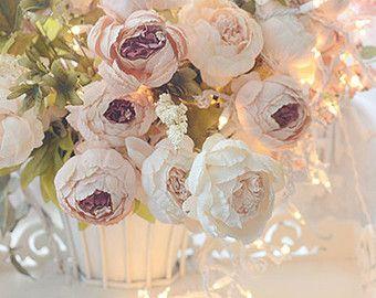 Pioenrozen bloem fotografie, dromerige Shabby chique Decor, romantische Pastel pioenrozen Print, pioenrozen Bloemen Photos, dromerige pioenrozen Home Decor prenten