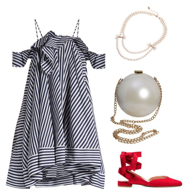 """Wrap it with Bow Pearl Necklace"" by yourbijouxbox on Polyvore featuring MSGM"