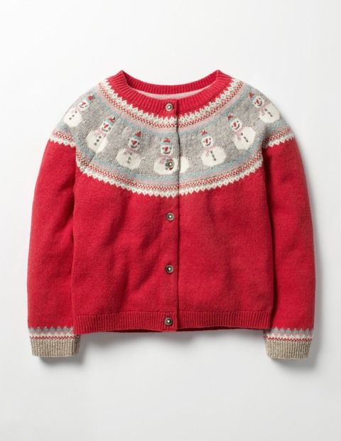 Don't let chilly weather stop you running wild with your favourite cuddly creatures. Wrap up warm in this colourful Fair Isle knitted cardigan with intricate animal designs. Wear it with jeans and some wellies and you're ready for long country walks (and optional puddle jumping).