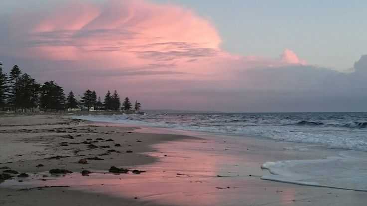 Adelaide beach at sunset