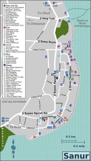 Sanur Beach - Family oriented. 25 min to Ubud. Close to Nusa Lembongan. Mid priced.