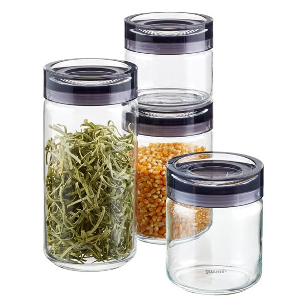 Grigio Canisters by Guzzini® for rice and flours.