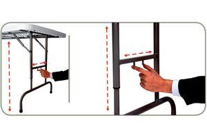 Mesa plegable de altura regulable profesional para banquetes de 180 cm