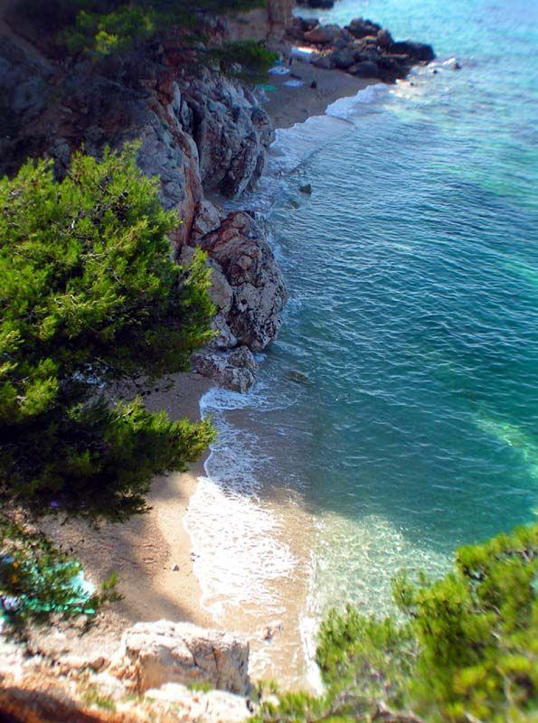 Hvar, Croatia - hidden beach #croatia #travelcroatia #travel #beach #ocean #sea #mediterranean