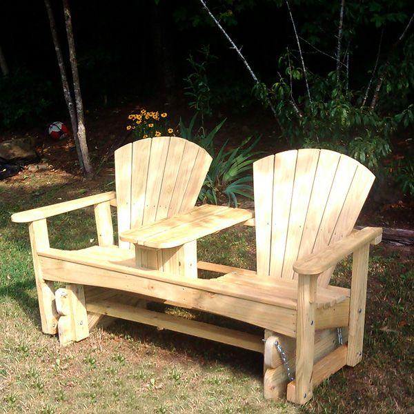 Adirondack glider chair woodworking plans woodworking for Adirondack swing bench plans