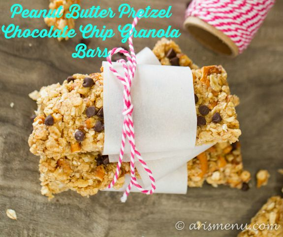 ... & gluten-free peanut butter pretzel chocolate chip granola bars