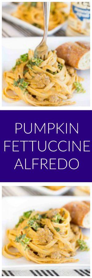 Pumpkin Fettuccine Alfredo
