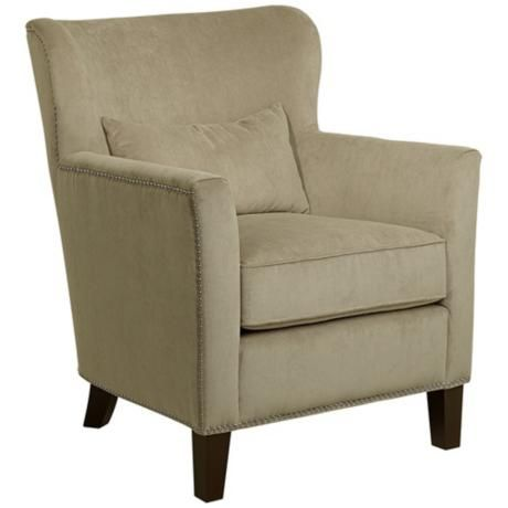 200 Griffin Taupe Upholstered Armchair U4610 Lampsplus Com Furnishings Pinterest
