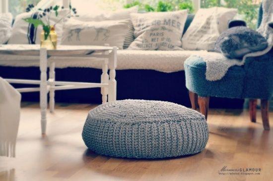 Pouf ikea crochet
