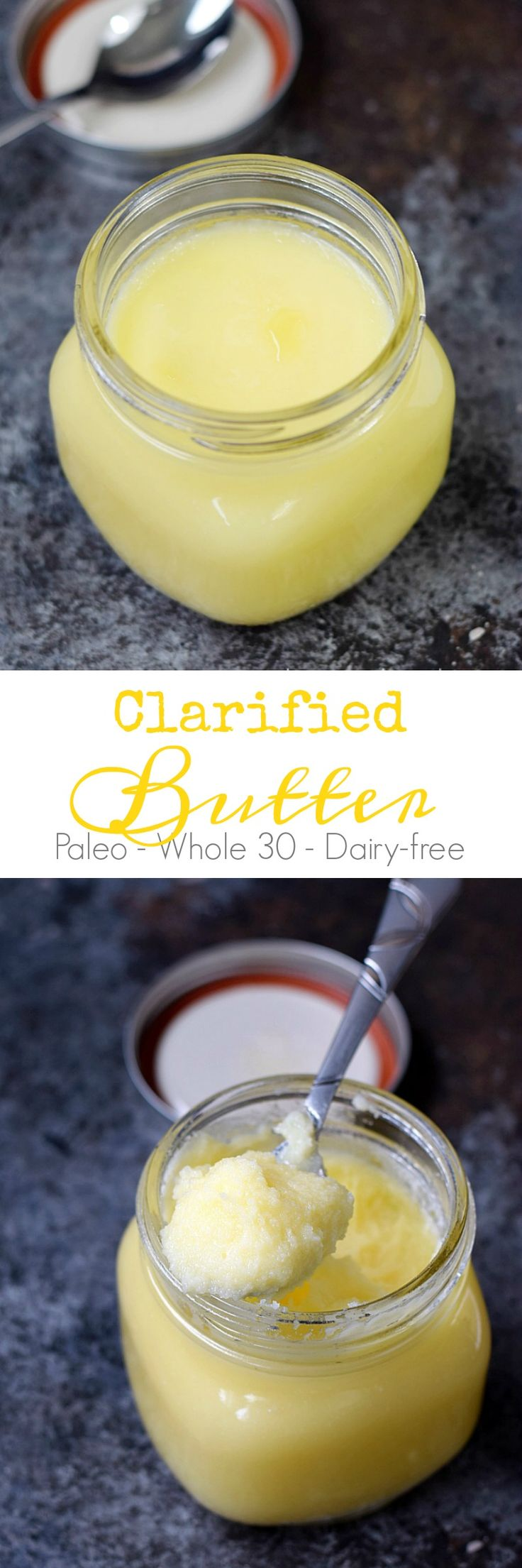This Clarified Butter is so easy to make, you can always have some on hand for your favorite Paleo and Whole 30 recipes | cookingwithcurls.com
