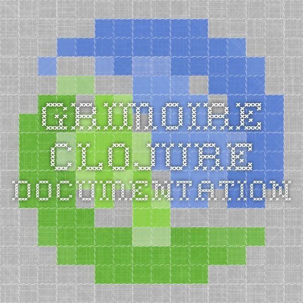 Grimoire - Clojure Documentation