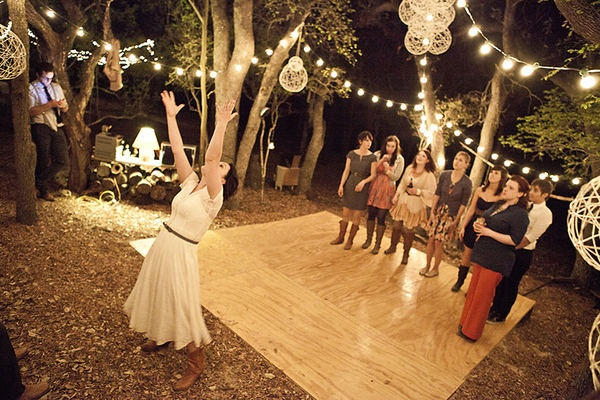 plywood outdoor dance floor