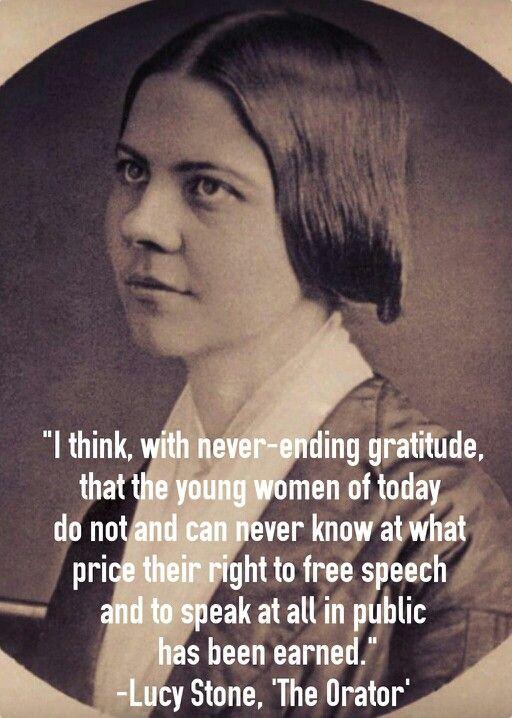 Lucy Stone, the first Women's Suffragist & Feminist