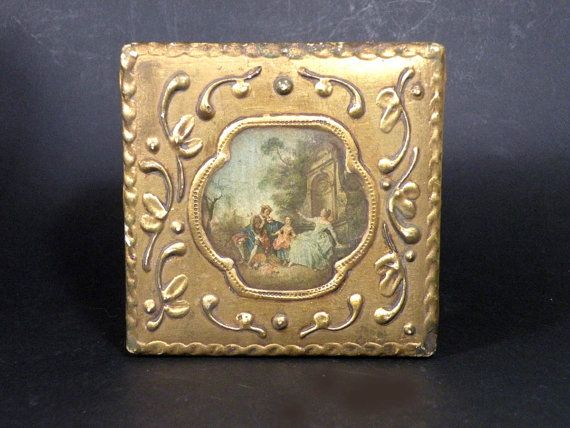 French antique wooden box. Ornate trinket box. by LaBonneVie72