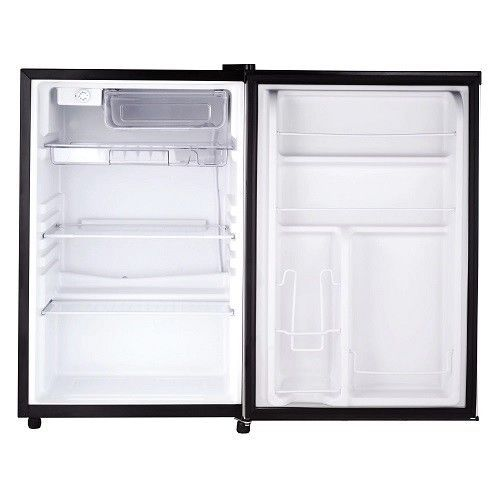 Mini Small Refrigerator Stainless Steel 4.6 Cubic Foot Compact Fridge Freezer  #MiniSmallRefrigerator