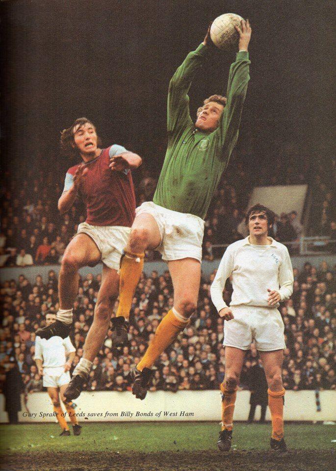Gary Sprake, Leeds United's Welsh goalkeeper.