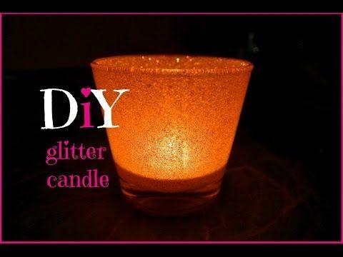 Třpytivý svícen (diy glitter candlestick) - YouTube