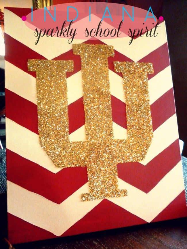 IU chevron canvas- BUT I would make this in Redskins, Bears, and Buckeyes! What is a Hoosier anyway?!?! :)