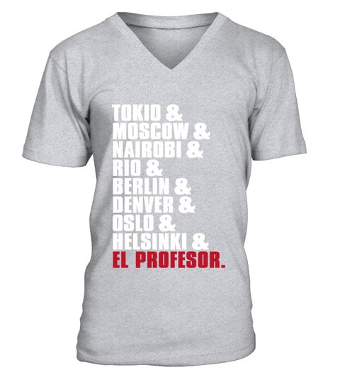 Casa de Papel Haus des Geldes Bella Ciao  –  V-Ausschnitt T-Shirt Unisex  #Shirt…