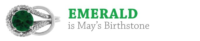 May Birthstone - Emerald Gemstone Jewelry and Discount Newsletter From Gemologica.com