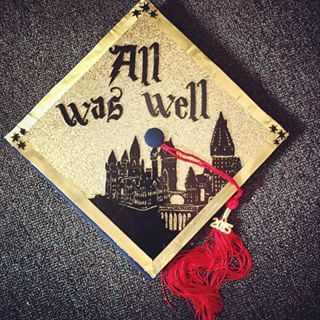 "The cap with the quote to sum up your last 4+ years. | Community Post: 12 ""Harry Potter"" Graduation Caps Every Potterhead Will Love"