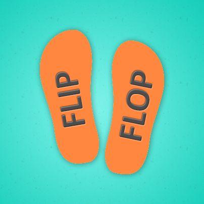 Bugünkü sözcüğümüz:  flip-flop: (isim) bir tür terlik, tokyo Okunuşu: flîp´flap Örnek Cümle: She wore her yellow bikini and her flip-flops and went to the beach.