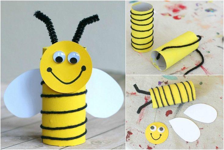 Biene basteln mit Kindern – 18 einfache und kreative Ideen mit