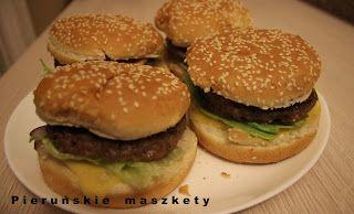 Pieruńskie maszkety - blog kulinarny: Domowe hamburgery dużo smaczniejsze niż te z budki...