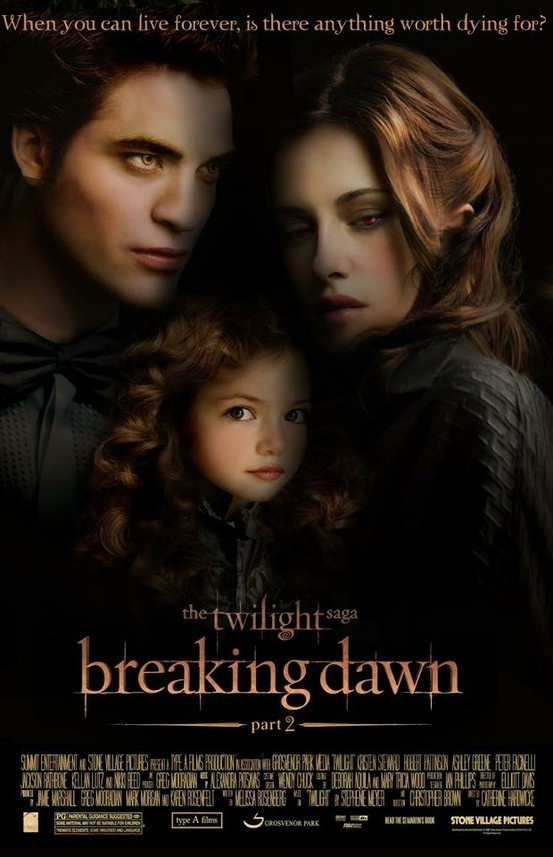 The Twilight Saga: Breaking Dawn Part 2 Movie Poster. twilight breakingdawn poster cantwait!