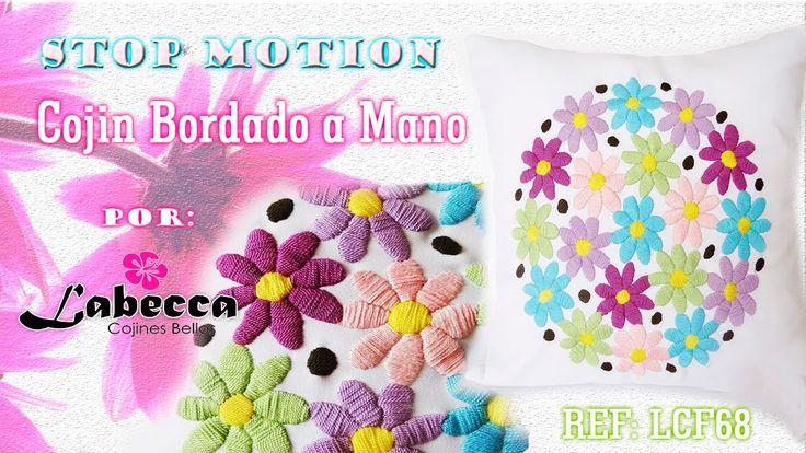 STOP MOTION | Cojín Bordado a Mano Animacion by Labecca | 스톱모션