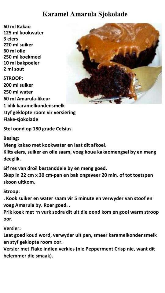 Amarula chocolate koek